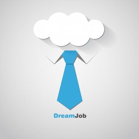 dreams: Dream job - conceptual logo eps10 illustration