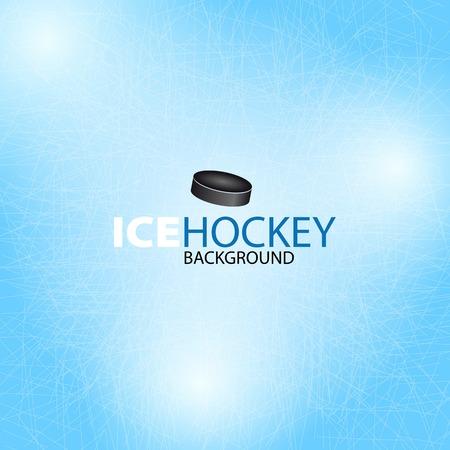 Ijshockey achtergrond - Vector illustratie Stock Illustratie