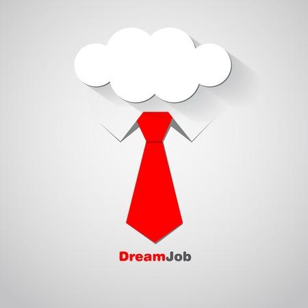 dream job: Dream job - conceptual  illustration Illustration