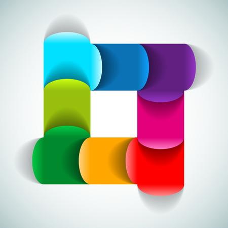 diagrama de procesos: M�dulo gr�fico de Proceso de colores - ilustraci�n vectorial