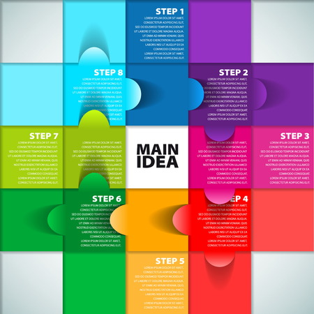 Colorful Process chart module - Vector illustration Vector