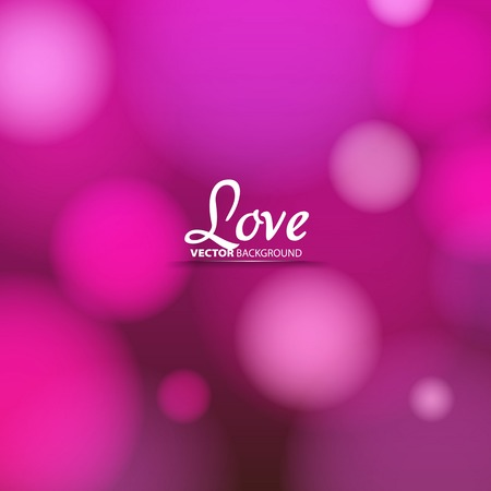 Love theme, Valentine Romantic card on a soft blurry background, Vector image Vector