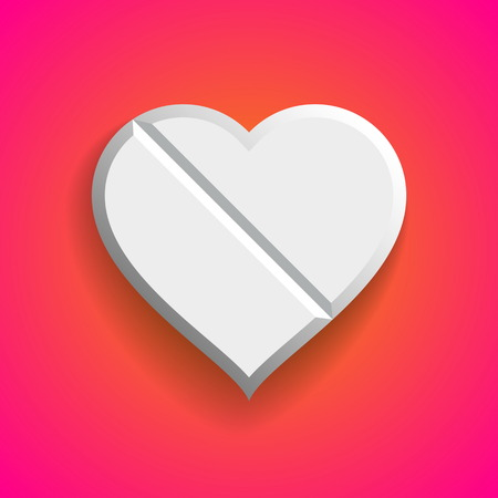 Vector love Pill,  Valentine cure
