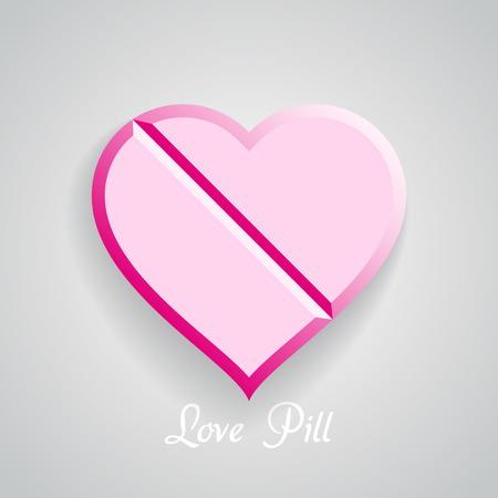 gu�rir: Vecteur amour Pill, Valentine cure
