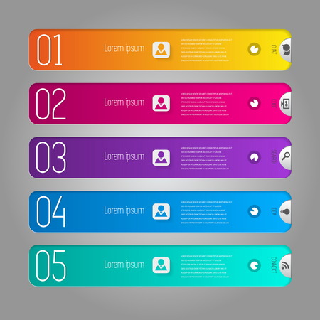 Simple Infographic template. illustration for workflow layout, diagram, number options, web design