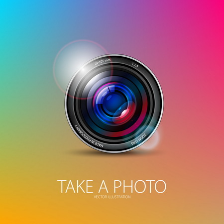 Realistic Photo camera design Vector