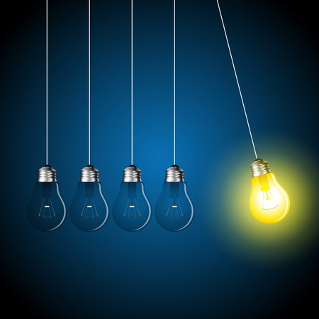 Perpetual motion with light bulbs, Idea concept