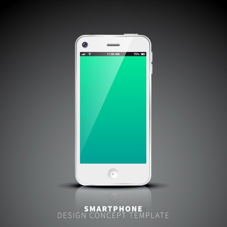 screenshot: Smartphones design concept template in white color with place for your screenshot