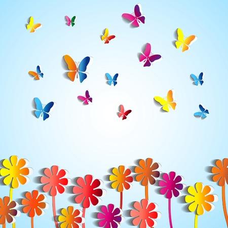 flowers background: Resumen de antecedentes de las flores de papel