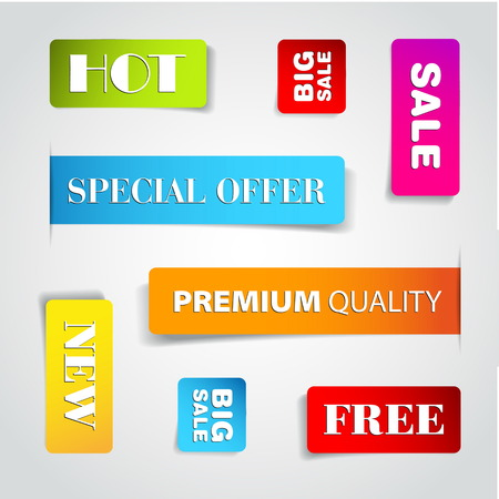 Set of commercial sale stickers Illustration