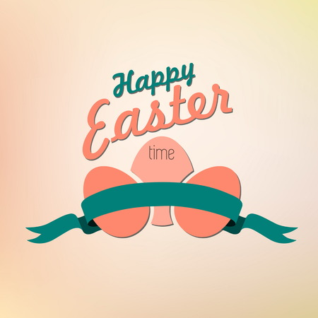 ostern: Happy Easter card illustration, Typographical Background