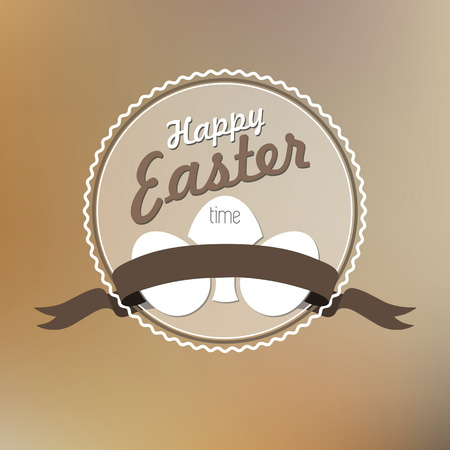 Happy Easter card illustration, Typographical Background Vector