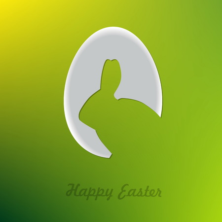 ester: Egg with bunny shape, Happy Easter card