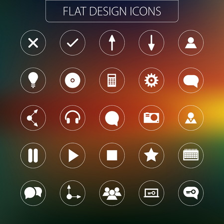 Flat design - icons pack. Simple line icons. Thin Icons Set Vector