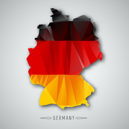Germany map in a Triangular Style. Vector Illustration Vector