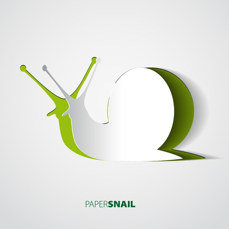 Snail papercut vector illustration Vector