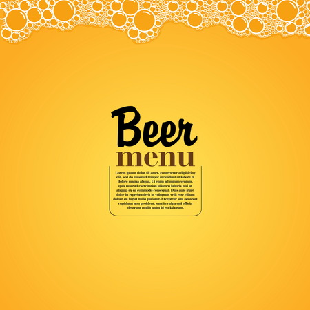 Beer Menú - Restaurante elegante tema - ilustración vectorial
