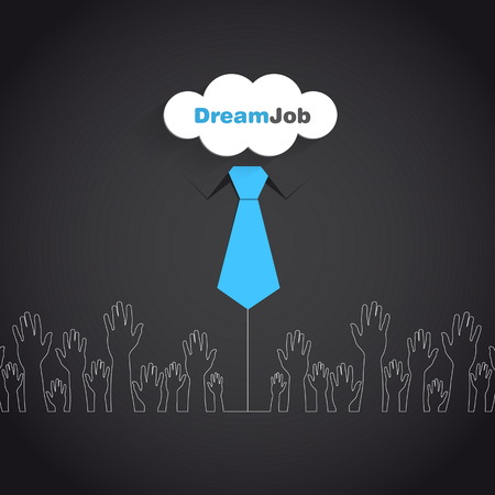 job offers: Dream job - conceptual logo eps10 illustration