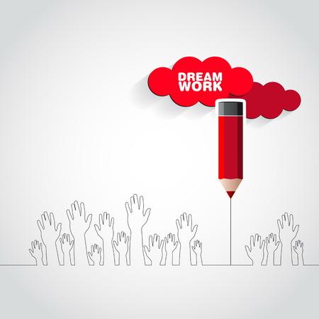dream job: Dream job or work - conceptual