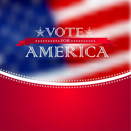 nomination: Vote por Am�rica, la elecci�n del dise�o de tarjeta del cartel, borrosa EE.UU. bandera de fondo