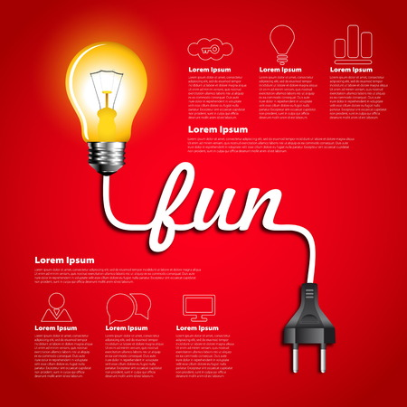edison: Creative light bulb fun abstract infographic, Inspiration concept modern design template workflow layout
