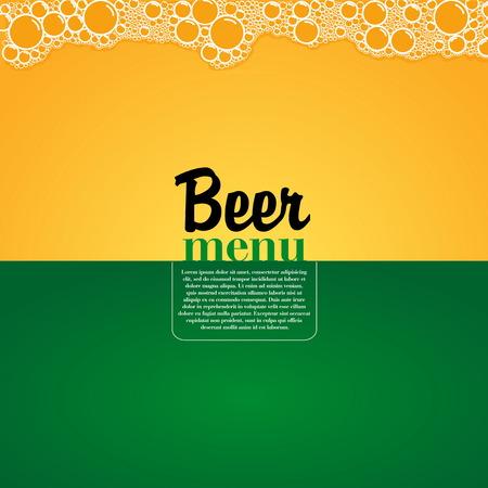 Menú de fútbol Cerveza, elegante restaurante temático para el fútbol y el fútbol, ??ilustración vectorial