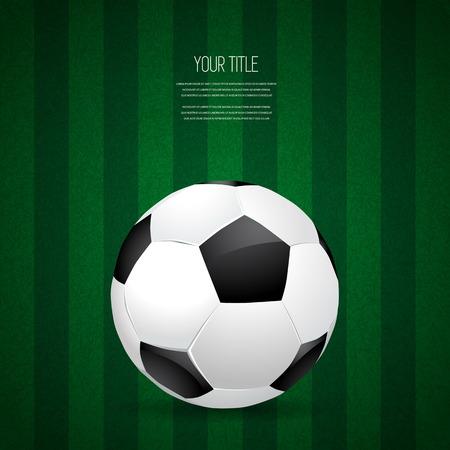 Soccer ball design on green grass background, vector illustration Illustration
