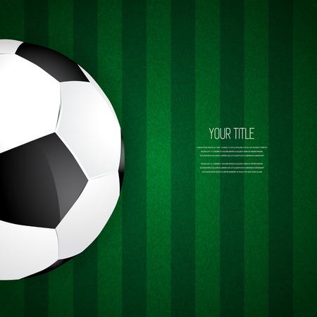 corner kick: Soccer ball design on green grass background, vector illustration Illustration