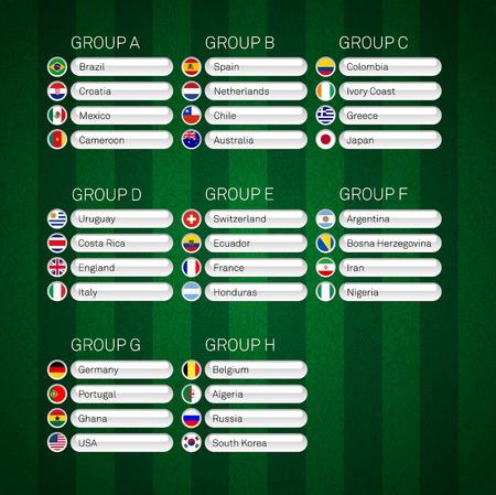 elimination: Soccer group stages poster vector illustration infographics