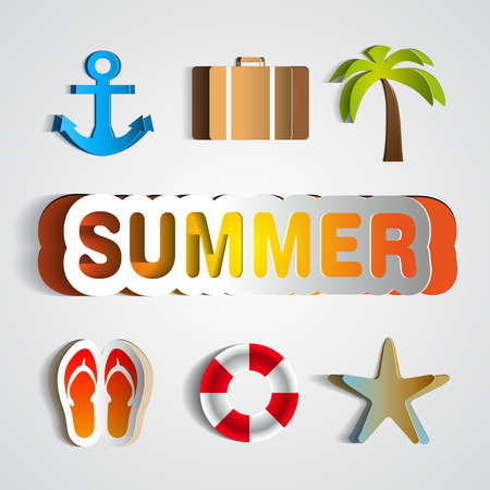 Summer background, Vector illustration, realistic cut, takes the background color Vector