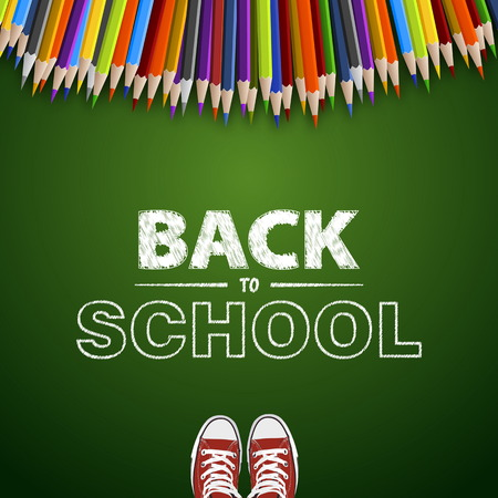 Welcome back to school. Vector illustration. Card design Vector