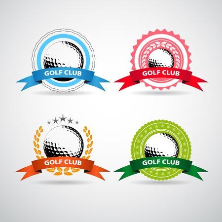 Set of golf club labels Vector