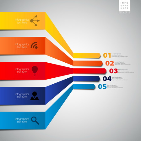 phonographic: Minimal infographics  Vector template for interface or infographic ready to place for your content