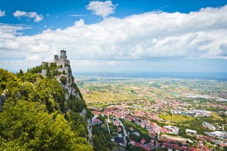 san marino: Rocca della Guaita, the most ancient fortress of San Marino, Italy