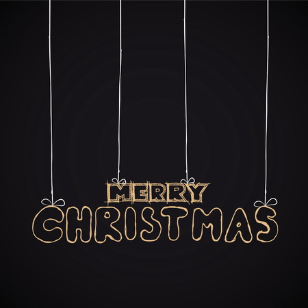 Christmas hand drawn typography for xmas design. Vector illustration Vector
