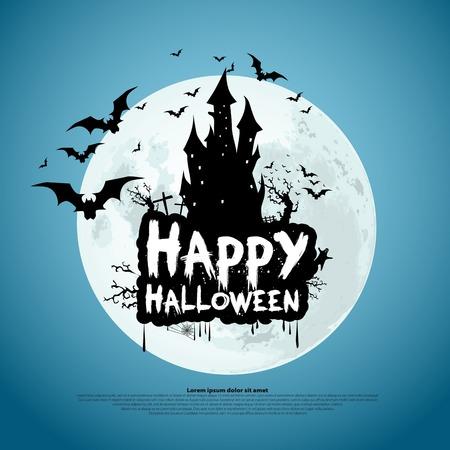 Happy Halloween message design background, vector illustration Vector