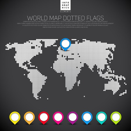 Dot dark World maps and globes business background. Vector