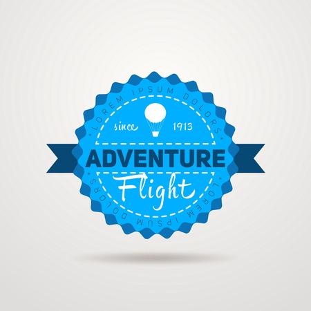 aeronautic: Adventure Flight Vintage Badge