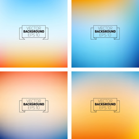 Abstract colorful blurred backgrounds. Elements for your website  イラスト・ベクター素材
