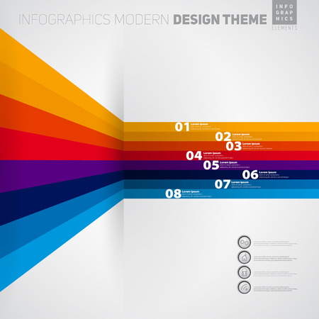 Vector banner Infographic timeline template with icons