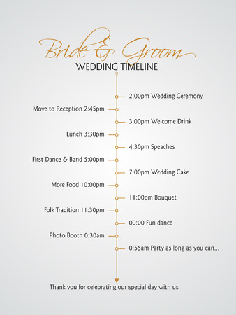 Simple infographics style wedding timeline Vector