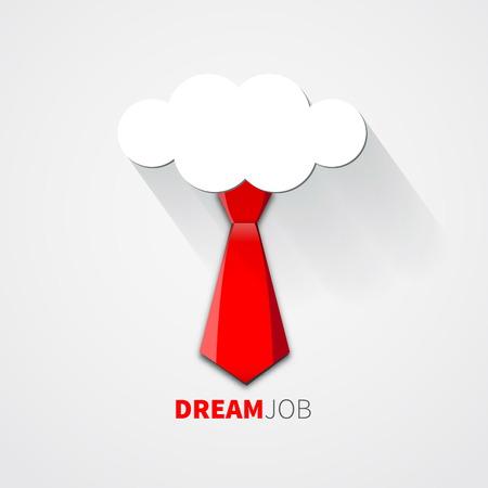 dream job: Dream job - conceptual    Illustration