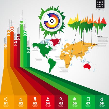 phonographic: Conceptual blank minimal infographics design. Vector illustration
