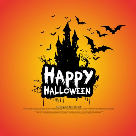 gray texture background: Happy Halloween message design background, vector illustration
