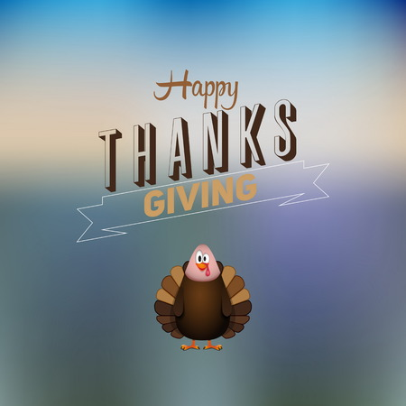 Vintage cartoon of turkey bird for Happy Thanksgiving celebration, can be use as flyer, poster or banner Vector