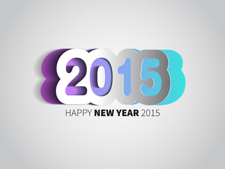 Happy New Year 2015 card, vector background