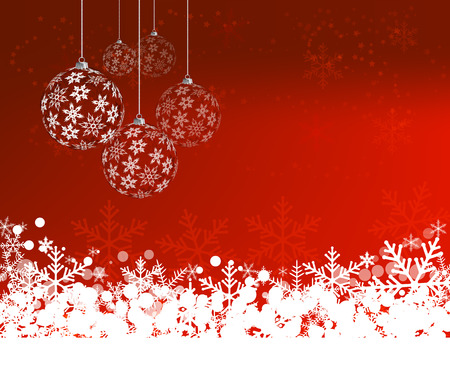 Christmas Background with balls. Abstract Vector Illustration. Eps10 Vector
