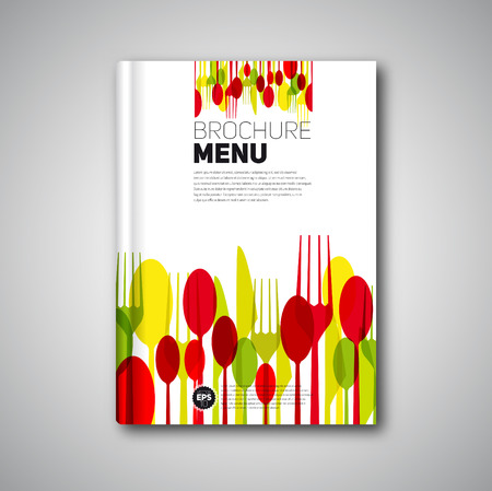 Restaurant Menu Card Design template, Brochure book cover design, vector card