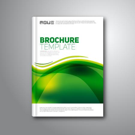モダンな抽象パンフレットや書籍、ベクター チラシ デザイン テンプレート 写真素材 - 36617626