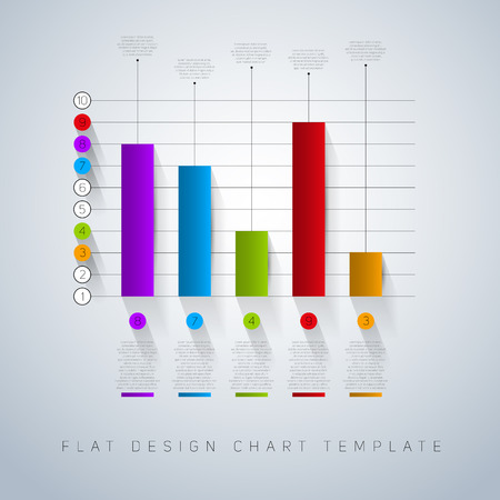 d data: Business flat design graph. Infographics chart illustration. vector